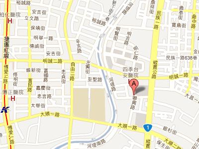 人人時尚美麗診所,4D微針電波拉皮地圖